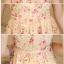 ชุดเดรสออกงานสวยๆ มินิเดรสกระโปรงสั้น สีส้มอ่อนโอรส พิมพ์ลายดอกไม้น่ารักสดใส เหมาะสำหรับใส่ไปงานแต่งงาน,งานเลี้ยง หรือจะใส่ทำงาน จะให้ลุคสวยหวานสไตล์เกาหลี thumbnail 6
