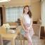 ชุดเดรสสั้นแฟชั่นเกาหลี สีชมพู พิมพ์ลายผีเสื้อ แบบสวย จะทำให้คุณเป็นสาวหวาน น่ารักๆ สามารถใส่ไปงานแต่งงาน ใส่ทำงานได้ thumbnail 3