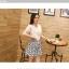 ชุดเดรสแฟชั่นเกาหลี ชุดเดรสน่ารัก ชุดเชตแฟชั่นน่ารัก ๆ ชุดเชตเสื้อสีขาว + กระโปรงสั้นลายดอกไม้ ( M, L, XL ) thumbnail 1