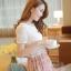 ชุดเดรสสั้นแฟชั่นเกาหลี สีชมพู พิมพ์ลายผีเสื้อ แบบสวย จะทำให้คุณเป็นสาวหวาน น่ารักๆ สามารถใส่ไปงานแต่งงาน ใส่ทำงานได้ thumbnail 4