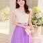 ชุดออกงานสวยๆ ชุดเดรสกระโปรงสั้นแฟชั่นเกาหลี สีม่วง ใส่ออกงานราตรี,งานเลี้ยงในโอกาสต่างๆ,งานแต่งงาน รับรองว่าสวยไม่แพ้ใคร thumbnail 4