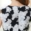 ชุดเดรสออกงาน มินิเดรสกระโปรงสั้น สีดำพิมพ์ลายดอกไม้ สามารถใส่ออกงานเลี้ยงโอกาสต่างๆ ให้ลุคสวย หวาน น่ารักสไตล์เกาหลี thumbnail 18