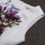 ชุดเดรสทำงานแฟชั่นสไตล์เกาหลีสวยๆ ชุดแซกกระโปรงใส่ทำงาน สีขาว พิมพ์ลายดอกไม้สัีน้ำเงิน ผ้าคอลตอลอัดลายดอกไม้ ซิปหลัง , thumbnail 5