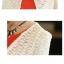 ชุดเดรสทำงาน สอง ชิ้น สีแดง เสื้อสูทสีครีม ชุดเอวเข้ารูป กระโปรงบาน น่ารัก thumbnail 3