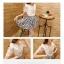 ชุดเดรสแฟชั่นเกาหลี ชุดเดรสน่ารัก ชุดเชตแฟชั่นน่ารัก ๆ ชุดเชตเสื้อสีขาว + กระโปรงสั้นลายดอกไม้ ( M, L, XL ) thumbnail 5