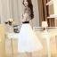 ชุดเดรสยาวสวยหรู โทนสีดำขาว ปักลายสวยเก๋ เอวคาด กระโปรงสีขาวผ้าชีฟอง thumbnail 5