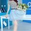 ชุดออกงานแฟชั่นเกาหลีสวยๆ มินิเดรสกระโปรงสั้น สีฟ้า สามารถใส่ไปงานแต่งงาน ทำงานออฟฟิศ จะทำให้คุณกลายเป็นสาวหวาน น่ารัก สดใส thumbnail 4