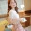 ชุดเดรสสั้นแฟชั่นเกาหลี สีชมพู พิมพ์ลายผีเสื้อ แบบสวย จะทำให้คุณเป็นสาวหวาน น่ารักๆ สามารถใส่ไปงานแต่งงาน ใส่ทำงานได้ thumbnail 5