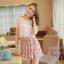 ชุดเดรสสั้นแฟชั่นเกาหลี สีชมพู พิมพ์ลายผีเสื้อ แบบสวย จะทำให้คุณเป็นสาวหวาน น่ารักๆ สามารถใส่ไปงานแต่งงาน ใส่ทำงานได้ thumbnail 11