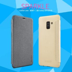 เคสมือถือ Samsung Galaxy A8+ (2018) รุ่น Sparkle Leather Case