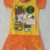 CN : Set เสื้อ+กางเกงขาสั้น Ben10 Going Hero สีส้ม