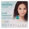 Maybelline Clear Smooth SHINE FREE Face Powder SPF 18 เบอร์ 02 ขาวเหลือง