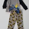 baby Gap HK : set ชุดนอน batman สีเทาดำ size : 3T