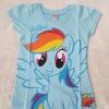 Disney : เสื้อยืดลายม้าโพนี Rainbow Dash สีฟ้า size 6 (5-6y)
