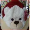 หมวกหน้าหมี มีสี น้ำเงิน