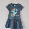Pony : เดรสผ้า cotton ยีด ลายม้าโพนี่ Rainbow Dash สีน้ำเงินอมเทา size : 1-2y / 2-4y / 4-6y