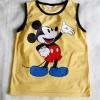 H&M : เสื้อกล้ามสกรีนลายมิกกี้เมาส์ สีเหลือง size 4-6y / 8-10y