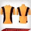 เสื้อจักรยาน แขนสั้น สีส้ม - ดำ