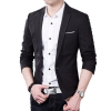 Hot Sale Men's Autumn Clothing Costume Jacket Blazer Cardigan Suits Jackets Coat (Black) (รุ่น 2BOD9SB030)