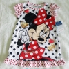 Disney : ชุดนอนลายมินนี่ สีขาว ผ้ามัน ลื่น size : 12m