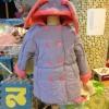 เสื้อโค้ท สีม่วง ผ้าหนา ใส่แล้วอุ่นมาก Size : 110 / 130