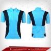 เสื้อจักรยาน แขนสั้น สี ฟ้า deepskyblue - แถบดำ