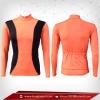 เสื้อจักรยาน แขนยาว สีส้ม orangered