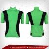 เสื้อจักรยาน แขนสั้น สีเขียวใบตอง - ดำ