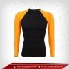เสื้อรัดรูป Bodufit แขนยาวคอกลม สีดำ-แขนส้ม