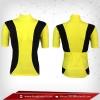 เสื้อจักรยาน แขนสั้น สีเหลือง - ดำ