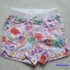 CHEROKEE : กางเกงขาสั้น เอวยางยืด ลายดอกไม้ สีขาว size 12m / 18m