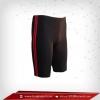 กางเกงรัดกล้ามเนื้อ ขาสั้น สีเทาดำ-แถบแดง