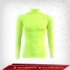 เสื้อรัดกล้ามเนื้อ แขนยาวคอตั้ง สีเหลืองอมเขียว Greenyellow