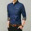 Lejialenanhai เสื้อเชิ้ตแขนยาวบุรุษเข้ารูปสีเดียว (โกลเด้นน้ำเงิน) (รุ่น 2GfQUKl0130)