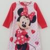 Disney : ชุดนอนผ้าสำสี แขนยาว พิมพ์ลาย มินนี่เมาส์ สีแดง size : 24m