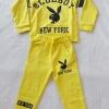 Carter's : Set เสื้อแขนยาว+กางเกงขายาว ลาย Blue Boy สีเหลือง เนื้อผ้า นิ่ม ไม่หนามาก Size : 2y
