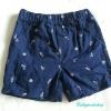 Carter's : กางเกงขาสั้นสีน้ำเงิน เอวยางยืด Size : 12m / 18m / 24m