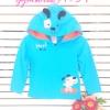 Gymboree : เสื้อแจ๊คเก็ตเนื้อปักน้องหมาป่า มีซิปหน้า มีฮูด size 3y