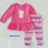 Cuddle Bear : เสื้อแขนยาวลายเพนกวิน สีชมพู พร้อมเลกกิ้ง