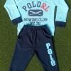 carter's : set เสื้อแขนยาว+ขายาว RL (แขนขาจั๊ม) สีฟ้า size : 1T (9-18m) / 2T (1-2y)