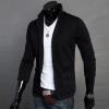 Men Concept เสื้อสูทผู้ชาย ผ้ายืด รุ่น IN1366 (สีดำ คอปก) (รุ่น 2F1iuN3030)