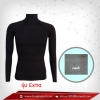 เสื้อรัดกล้ามเนื้อ แขนยาวคอตั้ง สีดำ รุ่น extra (สุดยอดผ้ายืดผิวผ้าลื่น)