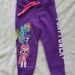 H&M : กางเกงขาจั๊ม สกรีนลายม้าโพนี่ สีม่วง size : 2-4y