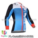 เสื้อจักรยานแขนยาวทีม Castelli 14 สีฟ้า สั่งจอง (Pre-order)