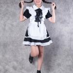 เช่าชุดแฟนซี &#x2665 ชุดแฟนซี ชุดเมด Maid สาวเสิร์ฟ สีขาวดำ