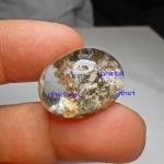 หายาก แก้วเข้าแก้วสีทอง+ปวกสามสี+กาบเงิน น้ำใสสวย ขนาด 2.5 *1.9 cm ทำแหวน จี้ สวยๆ