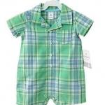 Carter's : บอดี้สูท สก็อตเขียว ผ้า cotton size NB (0-3m)