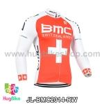 เสื้อจักรยานแขนยาวทีม BMC 14 สีแดงขาว สั่งจอง (Pre-order)