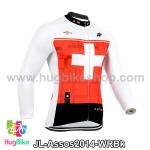 เสื้อจักรยานแขนยาวทีม Assos 14 ขาวแดงดำ สั่งจอง (Pre-order)