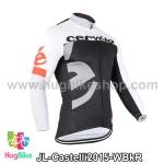 เสื้อจักรยานแขนยาวทีม Castelli 15 สีขาวดำแดง สั่งจอง (Pre-order)